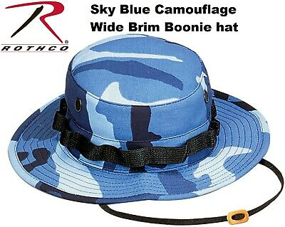 Sky Blue Camouflage Military Tactical Wide Brim Bucket Hunting Boonie Hat  5802 33a698dd00db