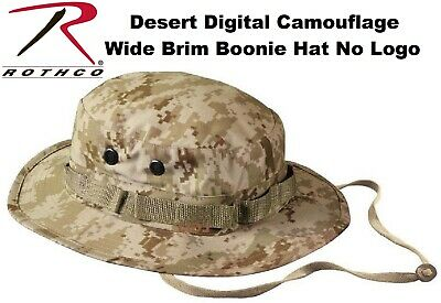 Desert Digital Camo NO EGA USMC Military Style Wide Boonie Hat Bucket Hat 5829