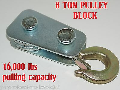 Pulley Block 8 Ton Winch Snatch Block-  Pulley Block