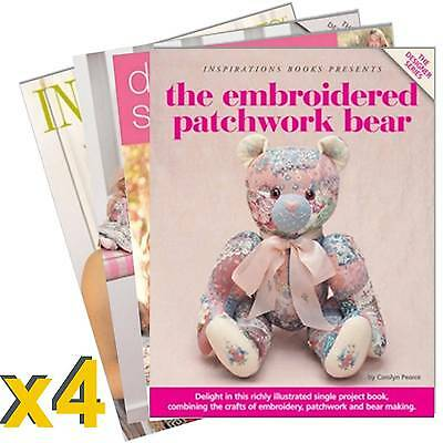 Inspirations Magazine 4 Book Pack #1 New Inc Patterns Sewing Embroidery RRP $124