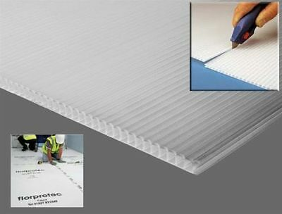 Floor Protection Correx Corrugated Fluted Board Plastic Sheets Pet Cage Hutch