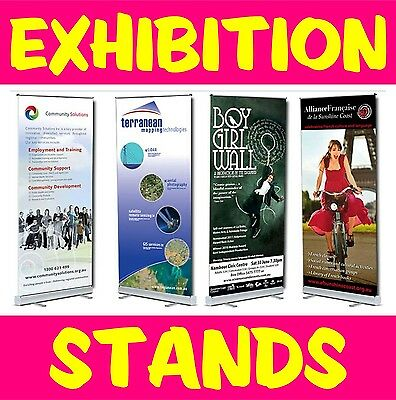 Roll/Pop/Pull Up Banner Exhibition Stand/Display Including High Quality Print