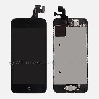 LCD Touch Digitizer Glass Screen Home Button + Front Camera Frame for Iphone 5C