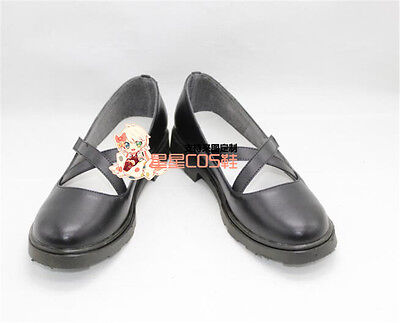 Touhou Project Izayoi Sakuya Girls Short Black Cosplay Shoes Boots X002