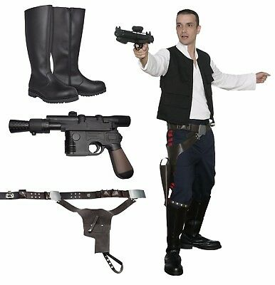 Special Offer Costume Set Belt Boots compatible with Han Solo A New Hope Costume