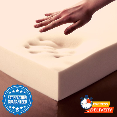 New UK Premium Memory Foam Comfy Extra Durable Mattress Topper 2 Inch - King