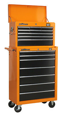 DJM Direct 9 Drawer Top Box Chest & 7 Drawer Roller Cabinet Roll Cab Tool Box