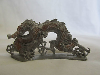 Partha Pewter Tom Meier Dragon - Signed/Stamped on Bottom of Figure