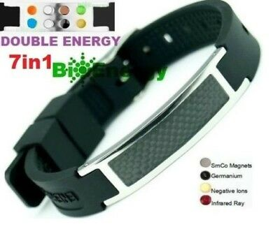 Anion Magnetic Energy Germanium  Power Bracelet Health 7in1 Bio Armband BAND