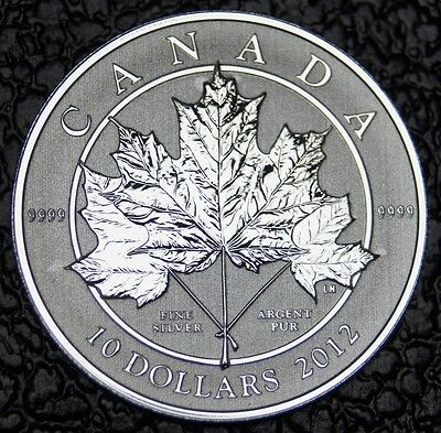 CANADIAN GEM 2012 -10 DOLLARS -.9999 SILVER 1/2 oz-UHCameo-MAPLE LEAF-SCARCE-NCC