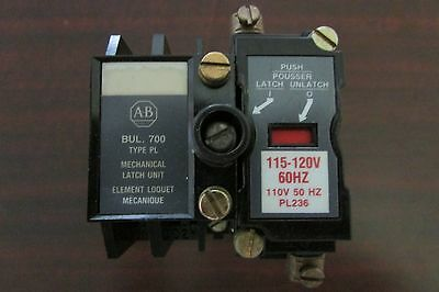 ALLEN BRADLEY 700 PL200A1 AC Relay with Latch Unit 700 P200A1 Relay 700 P200A1