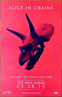 ALICE IN CHAINS The Devil Put Dinosaurs Here Ltd Ed Discontinued RARE New Poster