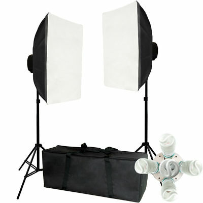 Lusana Studio 2000w Video Photography Softbox Stand Continuous Lighting Kit