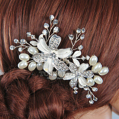 Grace Crystal Rhinestone Bridal Wedding Hair Comb Pearl Hair Accessory AU Stock
