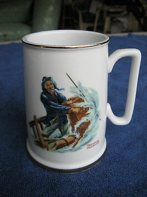 Norman Rockwell's Seafarers Collection Long John Silver's Tankard Braving Storm