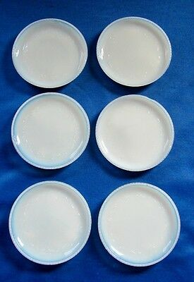 White Opalescent Set Of Six Glass Coasters Damaged Some Chips One Crack