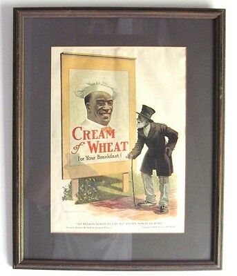 CREAM of WHEAT Vintage Advertising Framed Print by Roland M Smith 1914