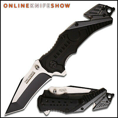TAC-FORCE Spring Assisted Opening Knives RED FIRE FIGHTER Tactical RESCUE Knife
