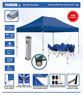 the best attitude a2519 f1f53 EURMAX CANOPY 10'X15' PREMIUM Heavy Duty Ez Pop Up Canopy tent with Roller  Bag