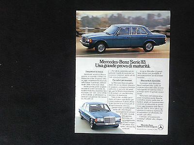 ADVERTISING PUBBLICITA'  MERCEDES-BENZ SERIE '83 prova di maturita' -- 1983