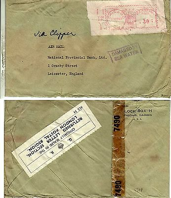 Crash mail letter 1943 Etats Unis