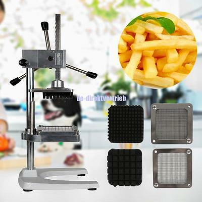 Potato French Fry Fries Chipper Fruit Vegetable Cutter Slicer Stainless 3 Blades