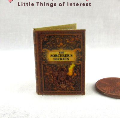 SORCERER'S SECRETS BOOK OF SPELLS Miniature Dollhouse 1:12 Scale Illustrated