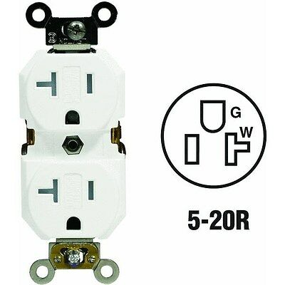 S02-TBR20-00W 20A Tamper-Resistant Grounded Duplex Outlet