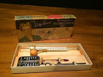 3 Piece Betty Furnes Westinghouse Thermometer Set in Original Box