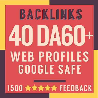 40 Premium Backlinks from DA60 to DA100 High Authority Sites + Full Report