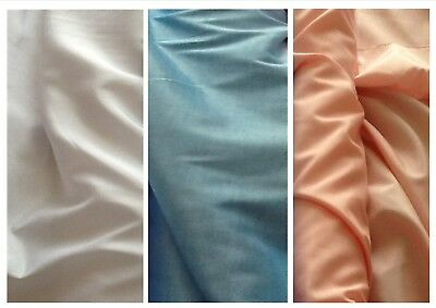 """Bridal fabric with a smooth shimmer finish: 3 colours £3.75/m 1.12m/44"""" wide"""