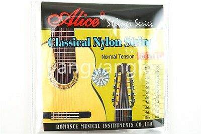 Alice AC1032C Clear Nylon 10-String Classical Guitar Strings 1st-10th Strings