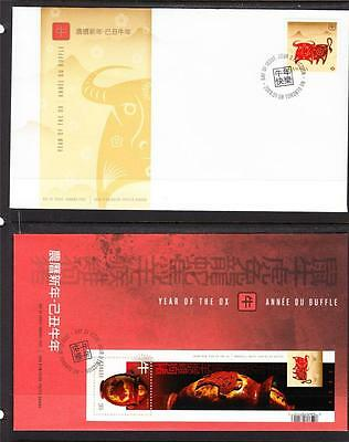 Canada Scott 2296-7 FDC -  Year of the Ox