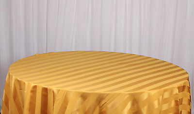 "Striped Tablecloths 90"" X 90"" Size Satin Stripe Decor Tableware Wedding"