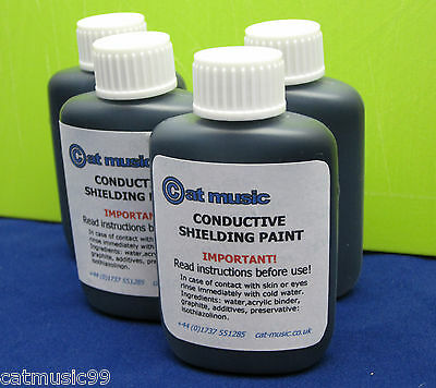 Conductive Graphite Shield Shielding Paint - Reduces Guitar Hum & Buzz