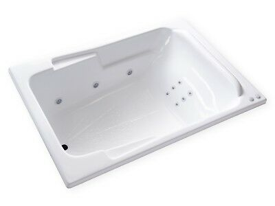 Carver Tubs SR7148 - 6 Foot Jetted Whirlpool Bathtub w/ 12 White Massage Jets