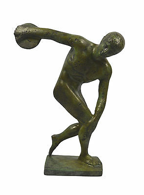 """Diskobolus of Myron"" bronze discus thrower sculpture statue artifact"