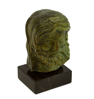 Ancient Greek artifact Boxer head bust bronze aged sculpture