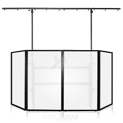 Gorilla 4-Panel Mobile DJ Disco Lighting Booth Screen 4FT Pro Rig Trussing Stand