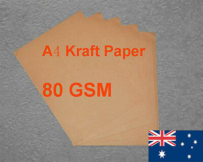 50 X A4 Kraft Paper Brown 80GSM All Wood Pulp Made