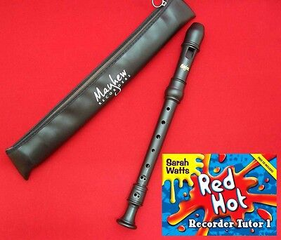 HIGH QUALITY School Descant/Soprano RECORDER with RED HOT TUTOR Book 1, Mayhew