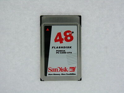 SANDISK 32MB or 48MB PCMCIA PC CARD SDP3B-32-584/ SDP3B-48-584 TESTED