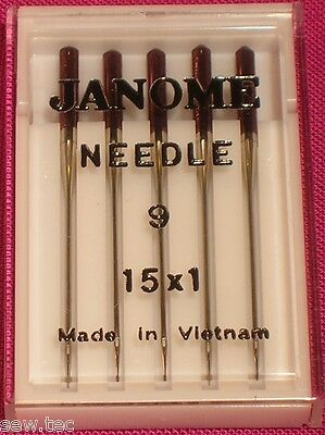 Janome Size 9/65 Needles For Fine Fabrics Silks Satin Chiffon And Lace .