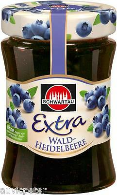SCHWARTAU BLUEBERRY PRESERVE 340g, most popular jam in Germany
