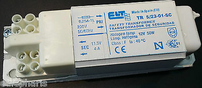 Transformador Ferromagnetico ELT 12V ac 50W 4A Regulable Dimmable, Made in Spain