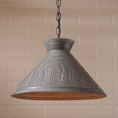 Roosevelt Shade Light Punched Tin Willow Hanging Pendant Light/Country Light