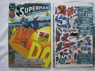 LOBO in SUPERMAN THE MAN of STEEL 30. SEALED COPY WITH DO-IT-YOURSELF-COVER.1994