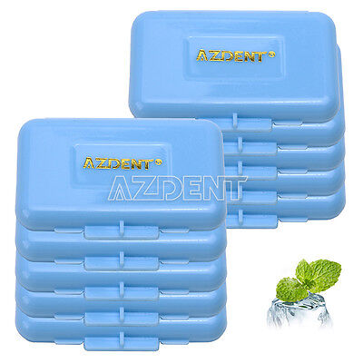 10 Box Dental Orthodontic Wax For Braces Gum Irritation Blue-Mint Scent 5Pcs/Box