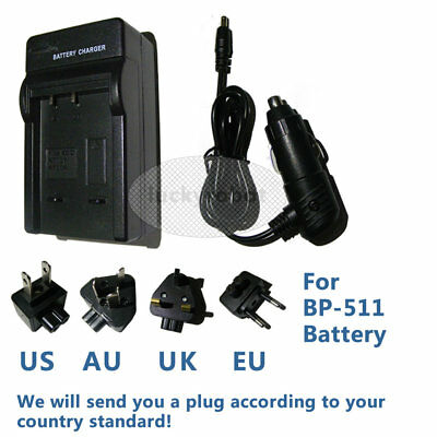 BP-511 Battery Charger for CB-5L CANON EOS 10D 20D 30D 40D 50D 300D Camera SLR