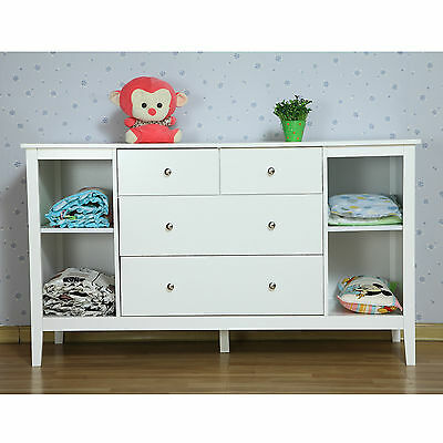 BNIB White New Zealand Pine Baby Change Table 4 Chest of Drawers & Change Pad